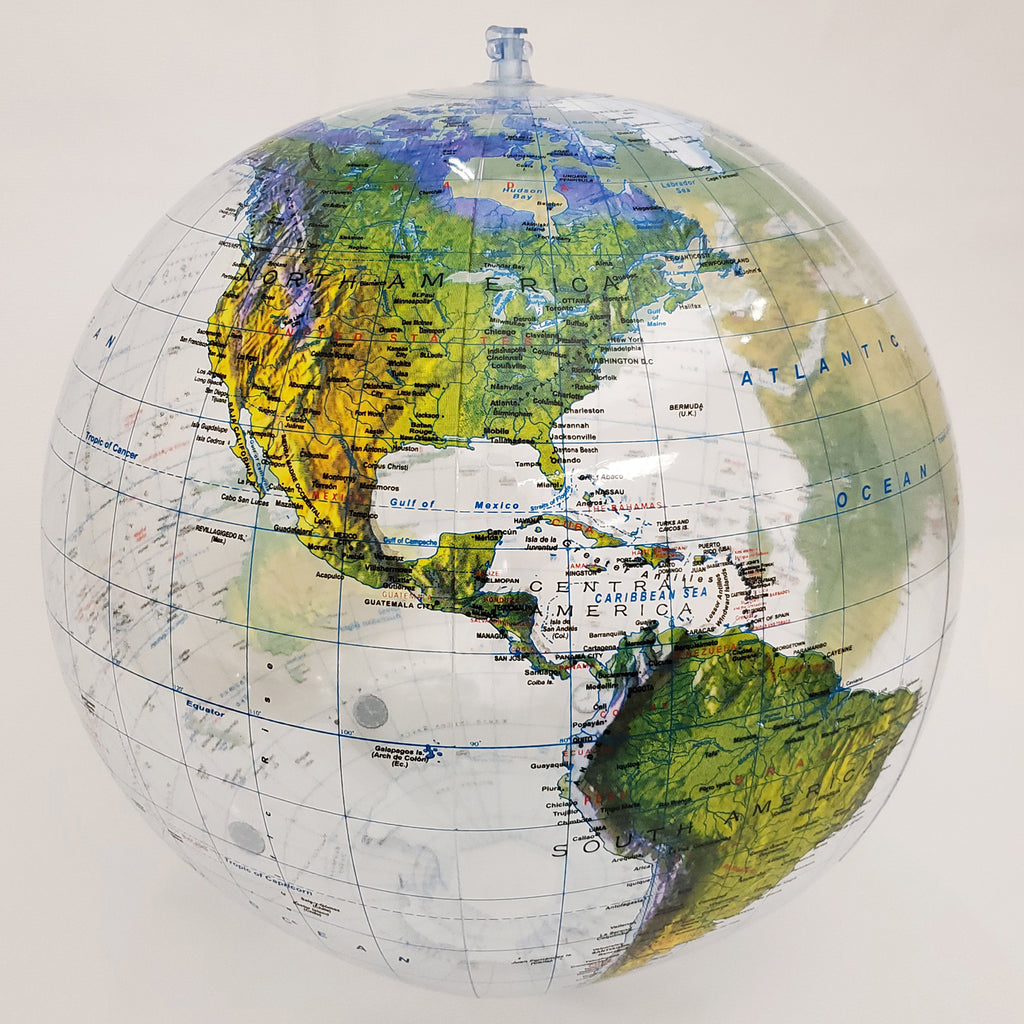 🌎 Clear Topographic Globe of Earth, 16 inch [GTO-16TTR]
