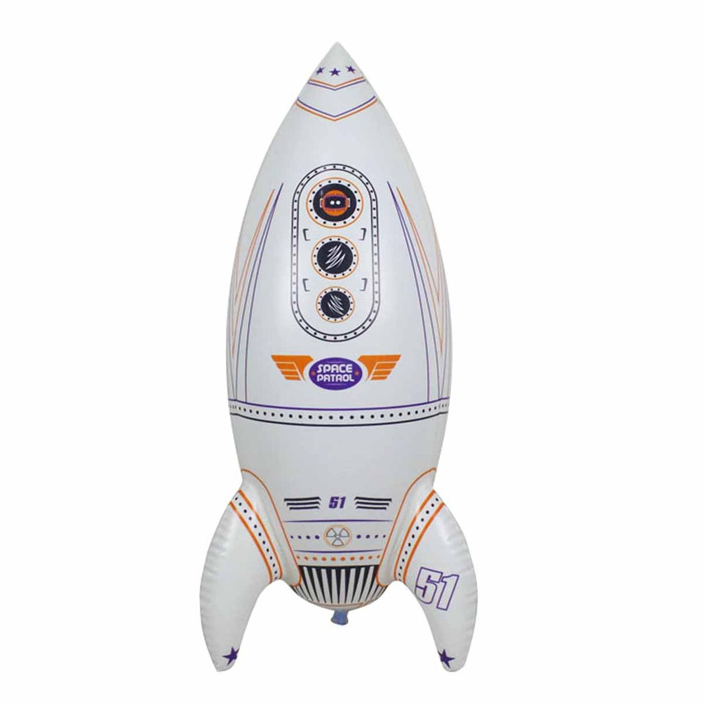 Inflatable Earth Moon Astronaut Space Shuttle and Rocket for Boys and Girls. Ideal for Birthday Classroom and Party Decors. Size Range 12 to 30 inch. JC-X0001