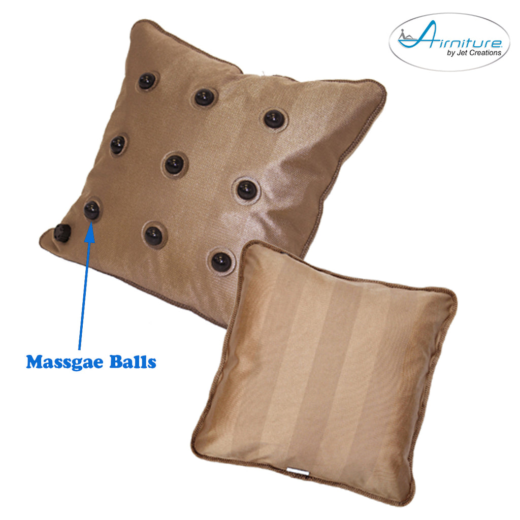 Back Support Pillow Cushion Adjustable Comfort Sagging-free Luxury Gold Chrome color, 20 inch  [NI-026]