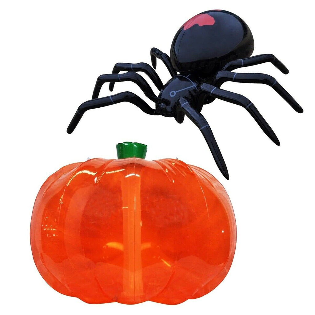 Inflatable Pumpkin and Spider Halloween Decoration