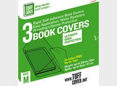 Tuff Cover Self Adhesive Book Covers - 3 packs