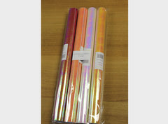Iridescent Self-Adhesive Craft Paper Rolls - 4 pack (Assorted Colours)
