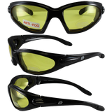 Birdz Eyewear Quail Padded Motorcycle Glasses