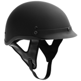 Fuel Helmets Half Helmet (Flat Black Medium)