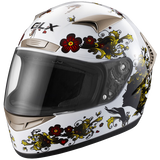 GLX Whisper Full Face Motorcycle Helmet White
