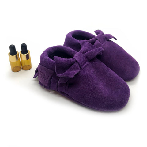 Royal Purple Bow Diffuser Moccasins
