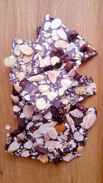 Cherry Almond Ginger Bark