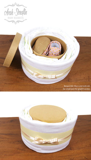 Secret - Diaper Cake (S) -  - Avah + Serafin Baby Baskets - 4