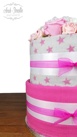 Secret - Diaper Cake (S) Belly Button Pink