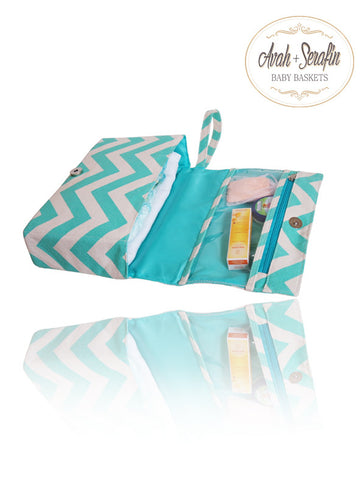 Windel Clutch - Etui *Mint* -  - Avah + Serafin Baby Baskets - 1