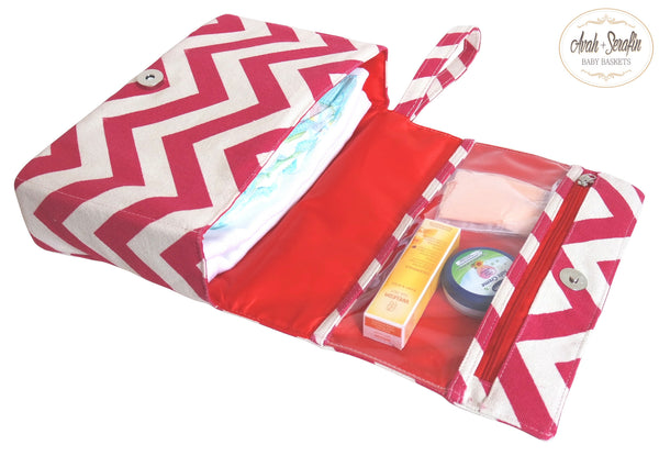 Windel Clutch - Etui *Rot* -  - Avah + Serafin Baby Baskets - 2