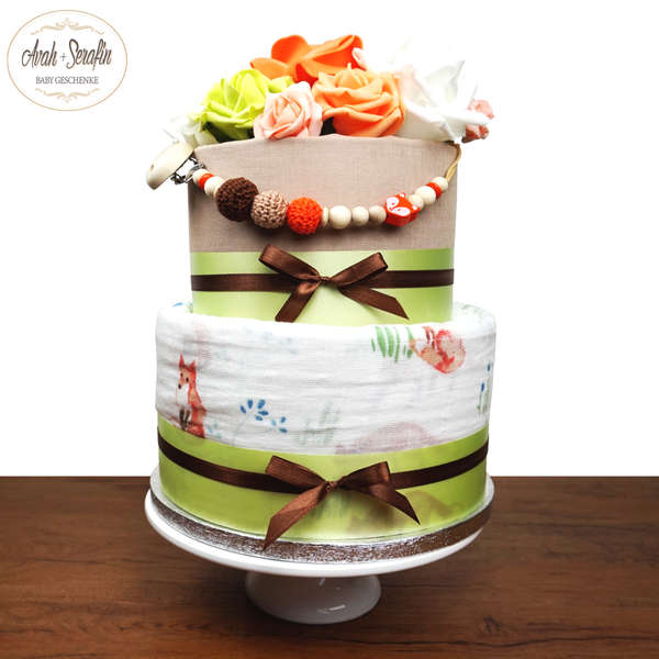 Little Foxy - Diaper Cake