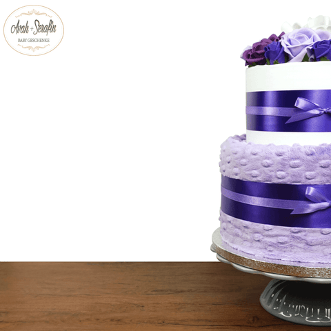 Love u Baby - French Lavender - Diaper Cake