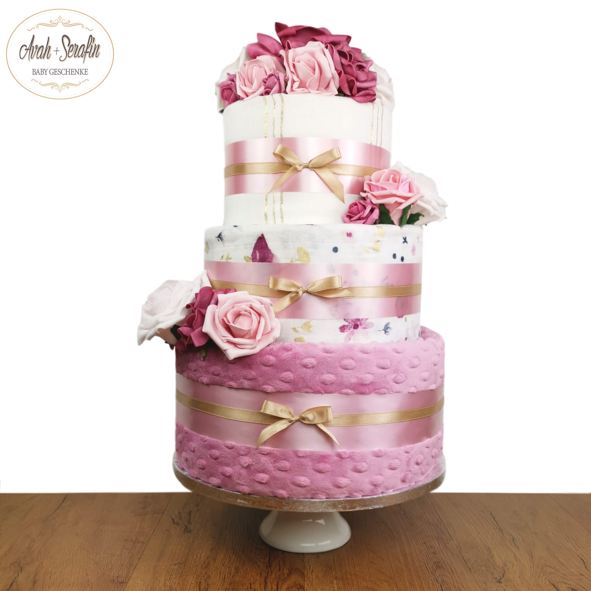Deluxe Love u Baby - Dusty Rose - Windeltorte