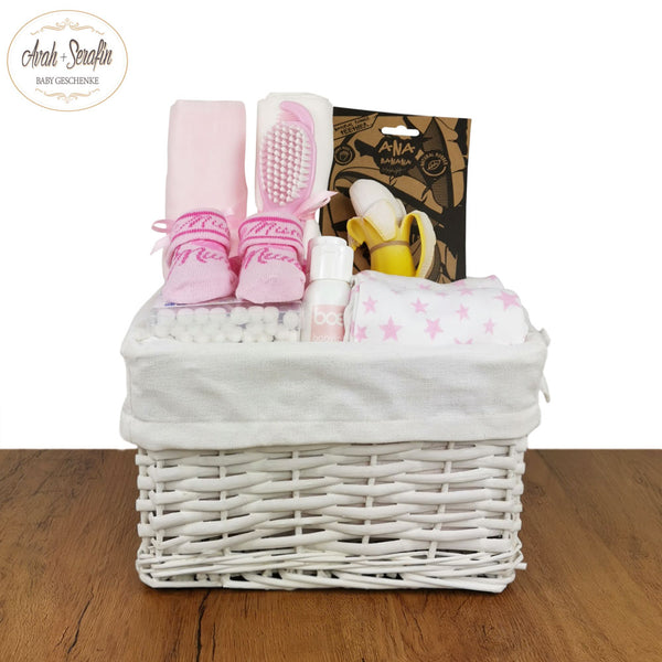 Hey Banana - Baby Basket - Rosa