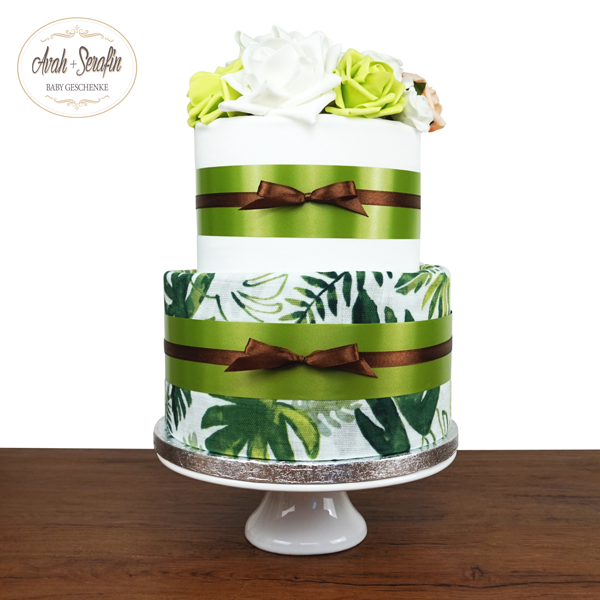 Monstera Blatt - Diaper Cake