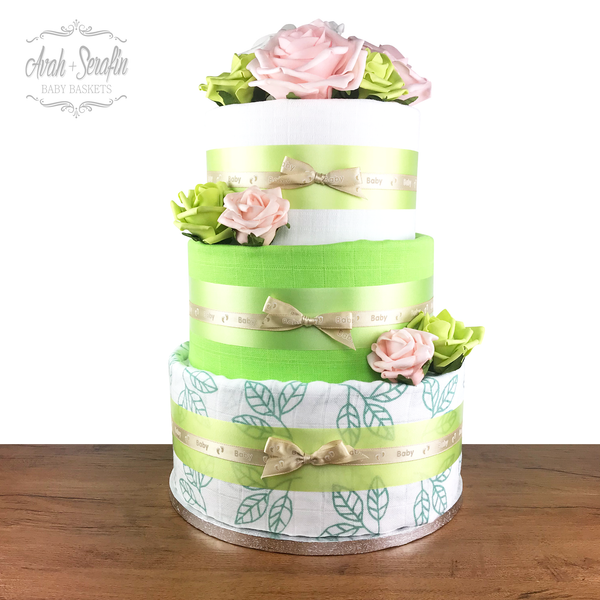 Secret - Diaper Cake (M) Grün