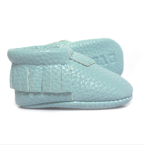 Moccasins - Minted Bliss Hell Blau -  - Avah + Serafin Baby Baskets