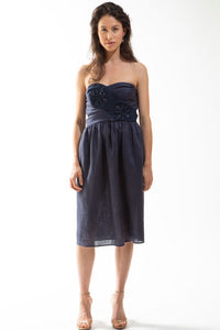 Made in NYC: Bustier Dress with Embroidered Panel (Style #220S)