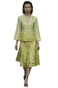 2 Piece Jacket and Skirt Paisley Suit (Citrus) Style 1789S