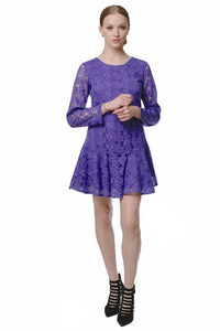 Flirty Lace Dress (Purple) Style 1717