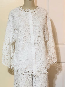 Lace Jacket with Ruffle Detail (Style#217)