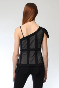 Wu One Shoulder T-Shirt Style # 9243