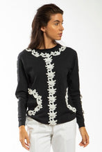 Made in NYC: Lace Embellished T-Shirt (Style# T106)