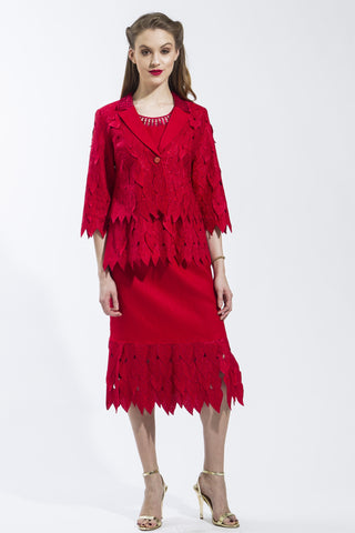 3 Piece Ivy Leaf Suit (Red) Style # 1785CS