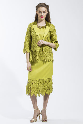 3 Piece Ivy Leaf Suit (Citrus) Style # 1785CS