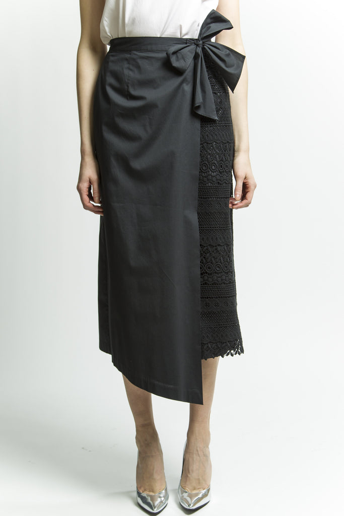 Tie On Wrap Skirt (Black) Style # 1794