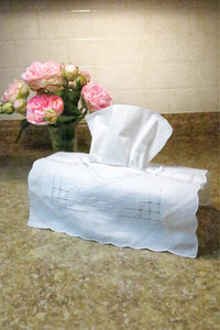 Hand Made Linen Tissue Box Cover (2 pieces)