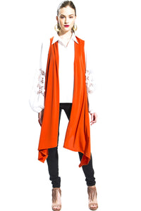 Made in NYC: Transformable Vest/Scarf (Orange) Style 143