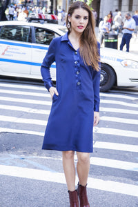Made in NYC Chic Tunic (Navy) Style # 102