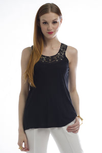 Sleeveless Sequin Knit Top (Black) Style # 1036