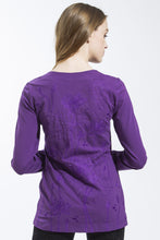 Lotus Long Sleeve T Shirt (Purple) Style 10823