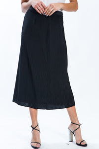Pleated Black Skirt Style 10826