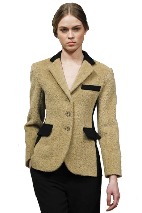 Made in NYC Wool Panel Camel Jacket Style #108