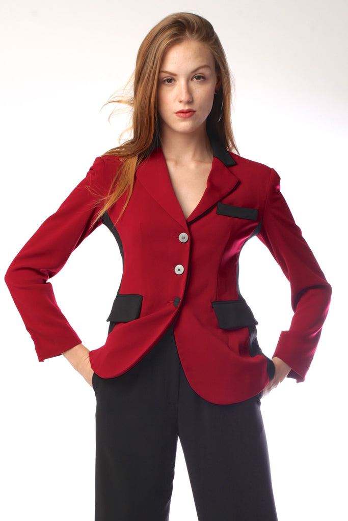 Made in NYC: Panel Jacket Style in Red # 108