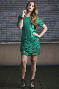 Rosetta Cocktail Dress  (Green) Style # 1110