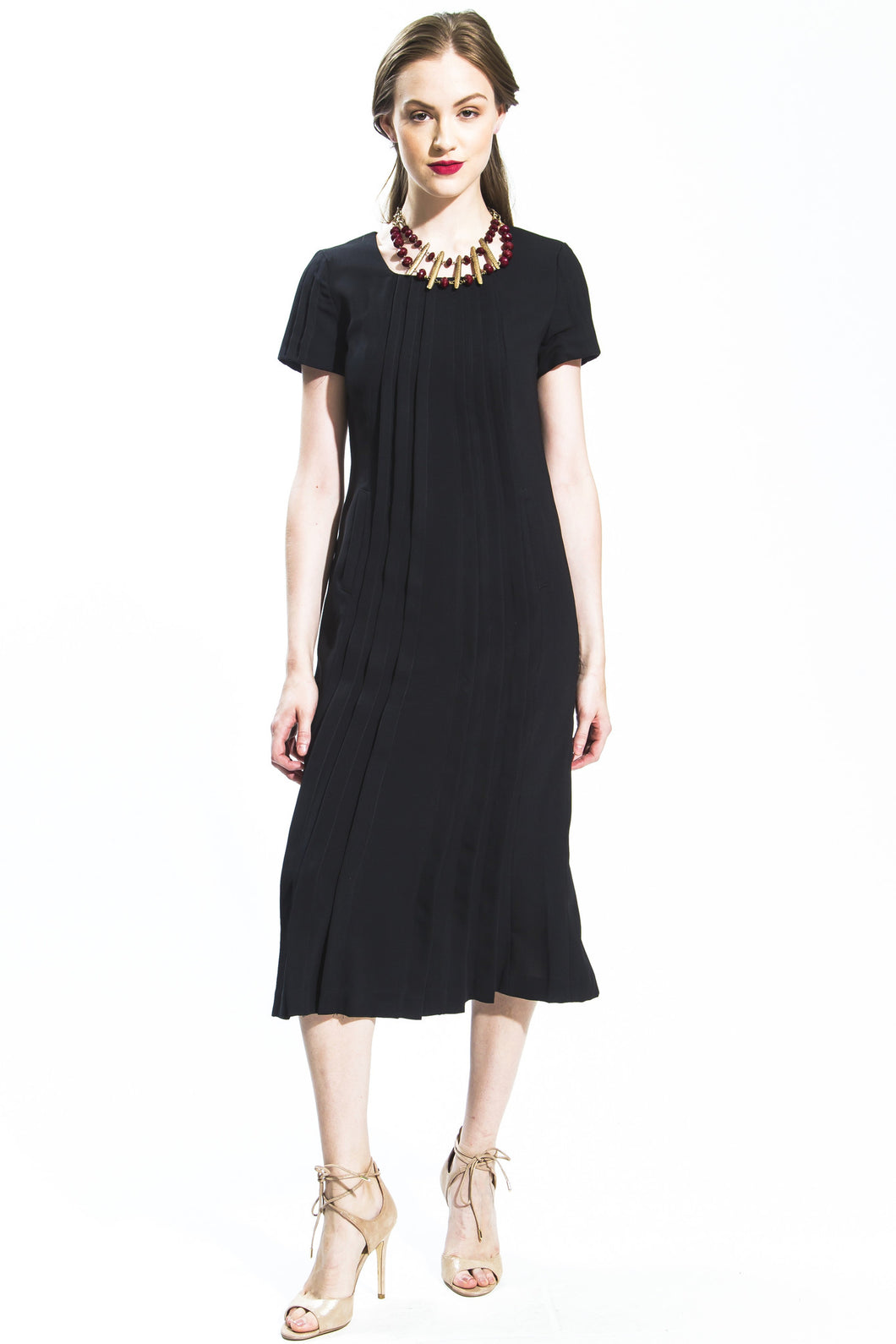 Sun Pleated Dress (Black) Style # 1139