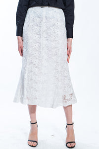 White Lace Skirt Style 1224