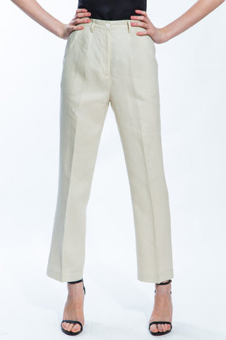 Beige Classic Pants Style 1266