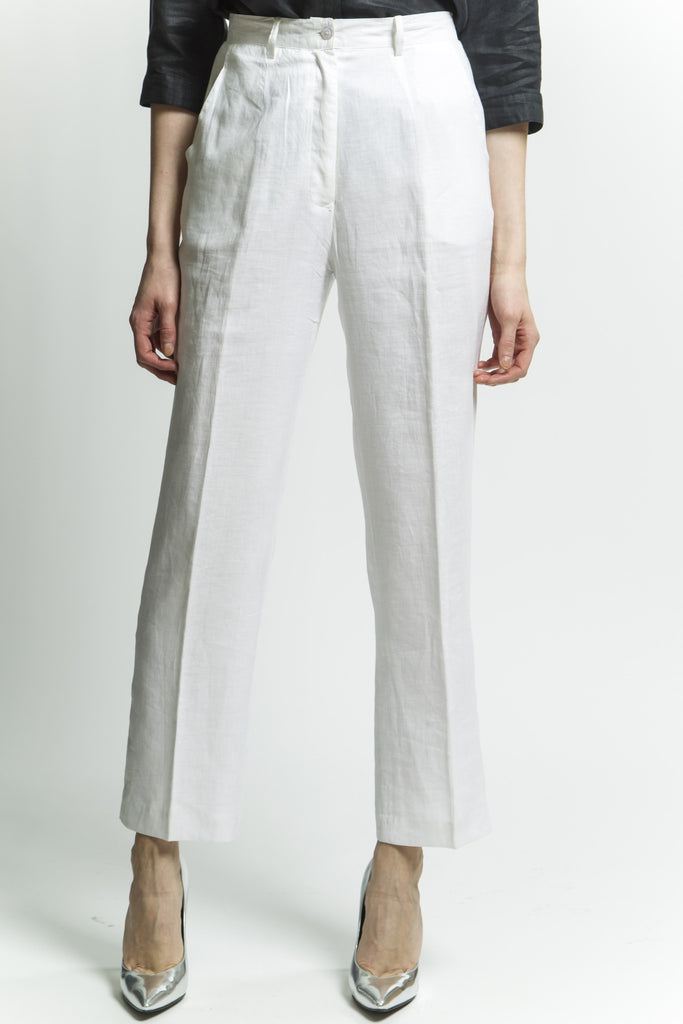 White Classic Pants Style 1266