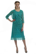 Lace Cardigan, Camisole, and Skirt Set (Teal)  Style # 1295CS