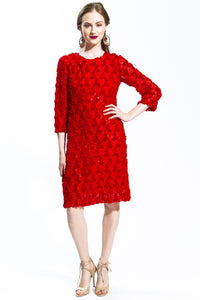 Quintessential Red Lace Dress Style 1298