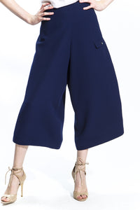 Made in NYC Wide Leg Wrap Culottes Style #145