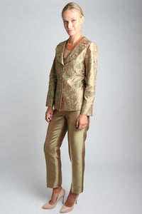 Abstract Flora 3 Piece Pant Suit (Gold) Style# 1743CP