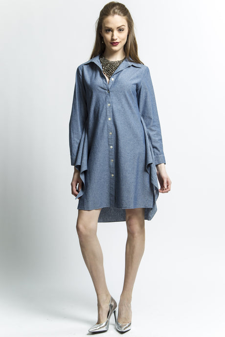 Indigo Transformable Shirt Dress Style # 1747