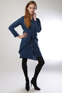 Navy Transformable Shirt Dress Style # 1747